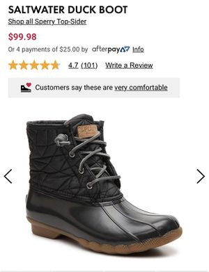 Sperry saltwater duck boot for Sale in Evanston, IL