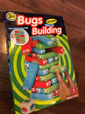 Bugs building game - kids version of Jenga - ages 3+ - 2 to 4 players for Sale in AZ, US