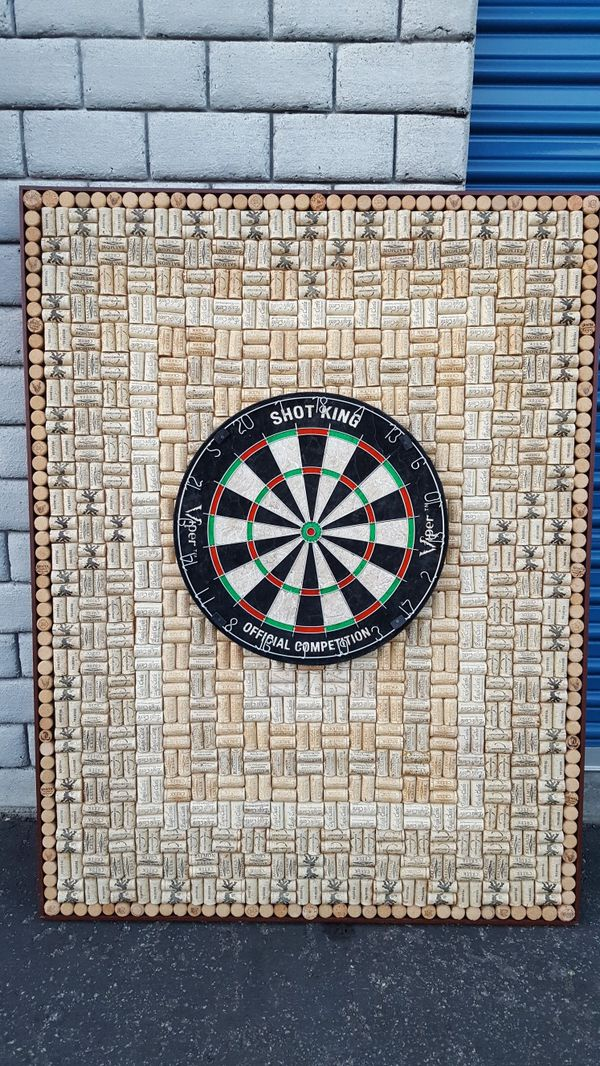 Shot King Custom Made Cork Dart Board For Sale In Irvine
