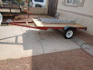 4x8 trailer for quads motorcycle Dirk bike and more 2017 title in hand for Sale in Phoenix, AZ