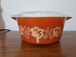Terra cotta Pyrex casserole for Sale in Lathrop, CA
