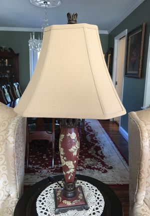 Beautiful painted Lamp (shade included) for Sale in Arlington, VA