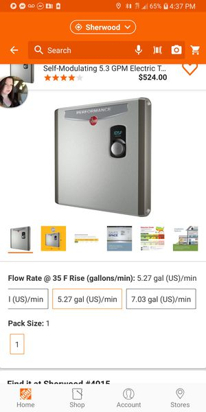 Brand New Rheem tankless water heater for Sale in Portland, OR