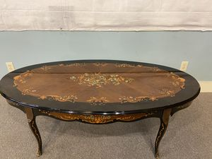Inlaid Wooden Coffee Table for Sale in Pensacola, FL