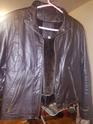 Leather Jacket - Dark Brown - Womens Size Large for Sale in Bronx, NY
