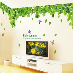 Lush Green leaf & Colorful Butterflies wall Sticker Art decals Mural Home Decor for Sale in Richardson, TX