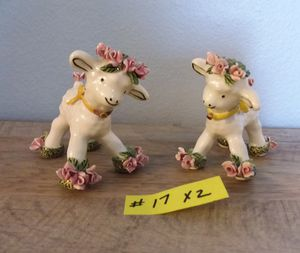 2 porcelain lamb figurines for Sale in Puyallup, WA