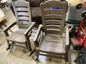 Patio furniture Rocking Chairs (2) for Sale in Tucson, AZ
