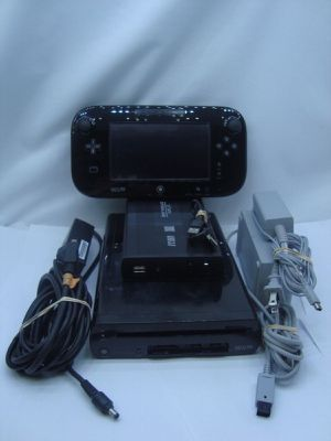 Black Nintendo Wii U 32GB Console System EXTERNAL 1TB Hard Drive w/ 50+ Games for Sale in El Paso, TX