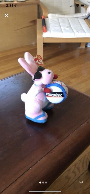 Energizer bunny beanie baby for Sale in Quincy, MA