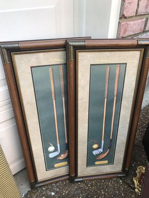 Pair of golf pictures for Sale in Franklin, TN