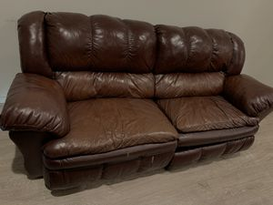 Two Living Spaces Real Leather Couches for Sale in Lake View Terrace, CA