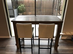 Bar pub height dining kitchen table and 2 chairs for Sale in Jupiter, FL