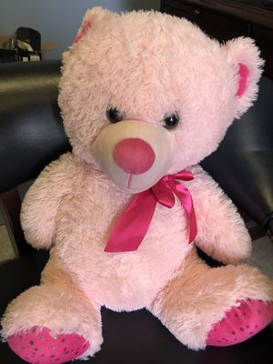 Large Pink Teddy Bear Plush Stuffed Animal for Sale in Griswold, CT