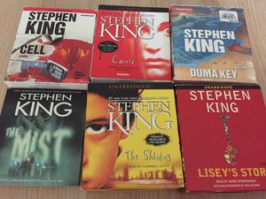 Stephen king audio horror book cd lot shining mist Carrie for Sale in Fort Lauderdale, FL