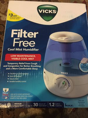 Humidifier filter free Vicks for Sale in Ontario, CA