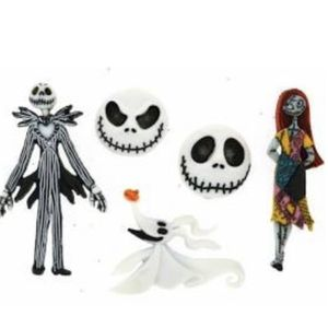 "Nightmare Before Christmas Buttons -Set of 5. Jack is approximately 1 1/2"" tall for Sale in Chicago, IL"