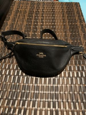 Leather Coach Black Waist Bag -New for Sale in Torrance, CA