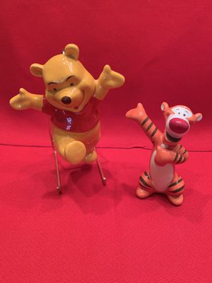 Walt Disney Vintage Porcelain Ceramic Winnie the Pooh with stand and Tigger for Sale in Chandler, AZ
