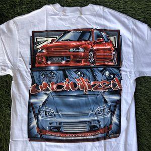 1999 Zum Speed DYKOM Racing Car Honda Civic Anime Tee Shirt for Sale in San Diego, CA