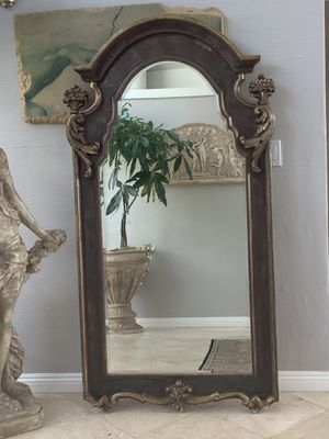 """Antique, over 100 years old full length mirror, absolutely unique and beautiful with lots of character 72""""x34"""" for Sale in Laguna Niguel, CA"""