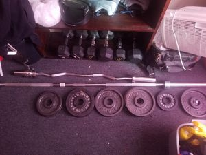Workout equipment barbell dumbbells for Sale in Middleborough, MA