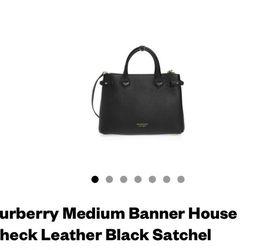 Burberry Medium Banner House Check Leather Black Satchel for Sale in Philadelphia,  PA