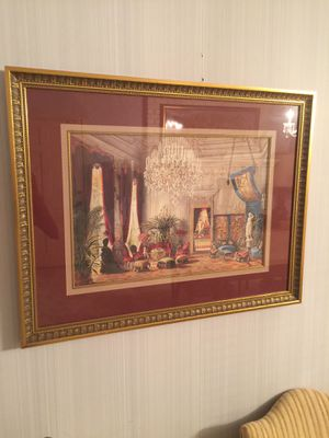 """European themed wall art in glass 36"""" by 24"""" for Sale in Pontotoc, OK"""