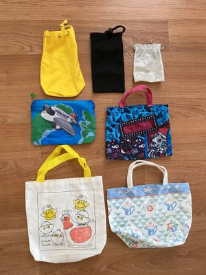 Lot of fabric bags, pouches for kids, $4 for all, perfect for playtime for Sale in Surprise, AZ