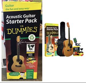 K394D Kona Acoustic Guitar Starter Pack For Dummies *** CHRISTMAS IS COMING** for Sale in Stafford, TX