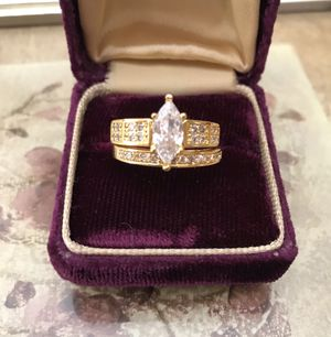 18K/925 Gold Filled Brilliant Sapphire Engagement /Wedding Ring for Sale in Los Angeles, CA