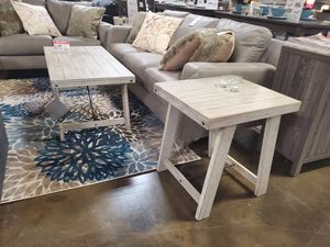 3 PC Coffee Table Set, Whitewash for Sale in Huntington Beach, CA