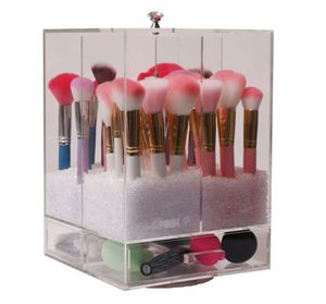 Spinning Makeup Brush Holder / Makeup Vanity / Acrylic organizer 💄 for Sale in Irving, TX