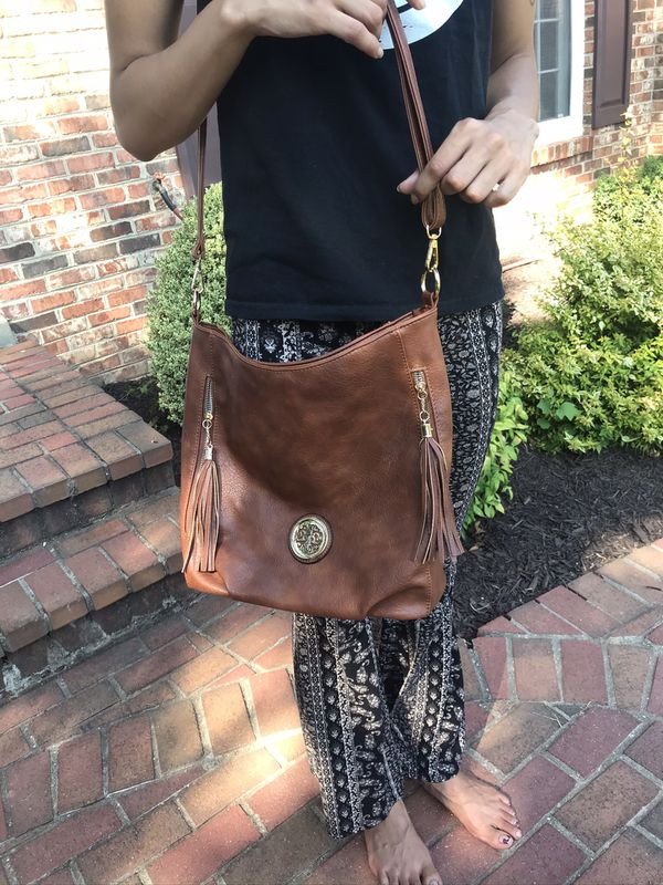 Faux Leather Brown Purse