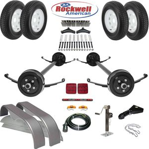 Tandem Brake Axle Trailer Parts Kit – 7,000 lb Capacity - We carry all trailer parts, trailer axles - We can repair any trailer for Sale in Plant City, FL