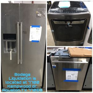 Samsung—KitchenAid—Lg—GE—Whirlpool—Thermador—Viking—Jennair—Frigidaire -> Home Appliances at Bodega Liquidation for Sale in Sugar Land, TX