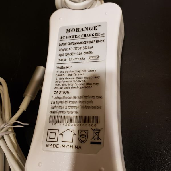 """Apple MacBook Pro 13"""" power adapter Charger type 1 for year 2012 model or older. 5 pin tip. New excellent condition."""