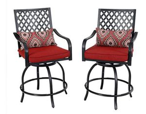 Patio Swivel Bar Stools with Seat Cushion 2 Pack for Sale in Philadelphia, PA
