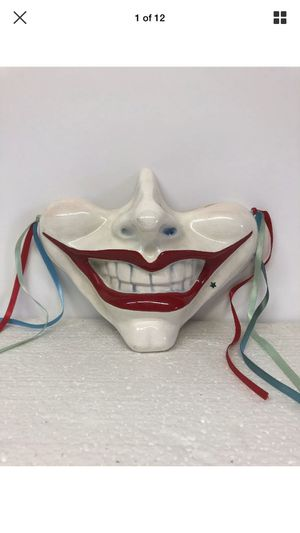 Cast of thousands vintage smiling face mask porcelain hand painted 1979 for Sale in Los Angeles, CA