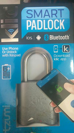 Smart(bluetooth) padlock for Sale in Oroville, CA
