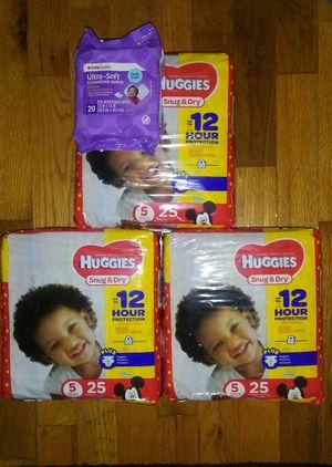 Huggies diapers sz 5 for Sale in Warren, MI