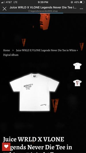 Juice Wrld x Vlone Tee (SIZE LARGE) for Sale in Los Angeles, CA