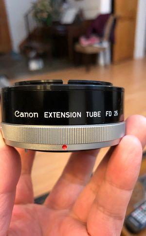 Canon extension tube FD 25 for Sale in Kirkland, WA