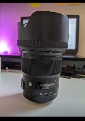 Sigma 50mm f/1.4 DG HSM ART Lens for Canon for Sale in San Jose, CA