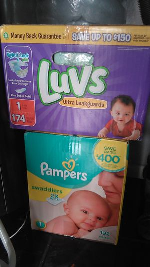 Pampers size 1 luvs size 1 for Sale in Rialto, CA
