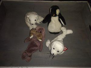 Beanie Babies Admiral Beanie Babies Aurora Beanie Babies Jolly Beanie Babies icing Seal Walrus Polar Bear Penguin for Sale in Souderton, PA