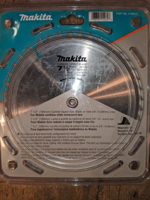 Makita 7 & a half inch miter saw blades brand new in the package still for Sale in Salt Lake City, UT