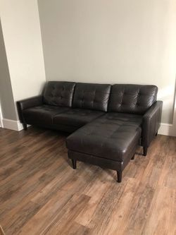 Leather sofa with chase for Sale in Parma,  OH