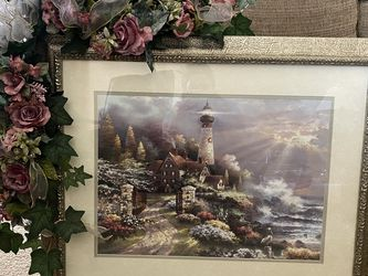 Lighthouse Picture W/ Floral Accent (Removable) for Sale in Columbus,  OH