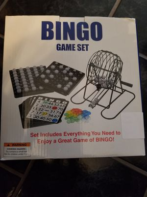 Bingo game set NEW in box for Sale in Benzonia, MI